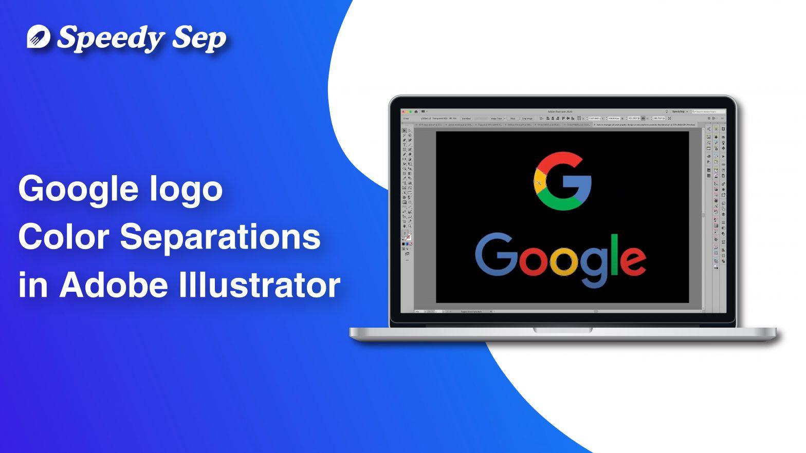Google Logo in Color Separations in Adobe Illustrator [Step by Step]