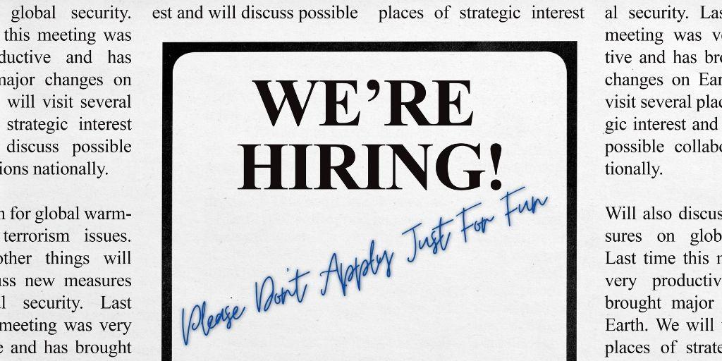 DN WK 11 Job ad