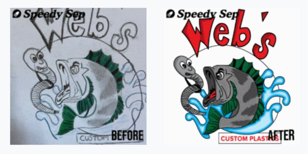 Image Re-creation for Screen Printing BEFORE & AFTER